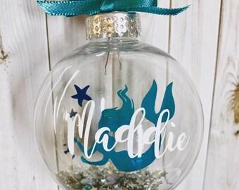 Personalised Mermaid Children's Christmas Bauble - Alternative Bauble - Mermaid Decoration