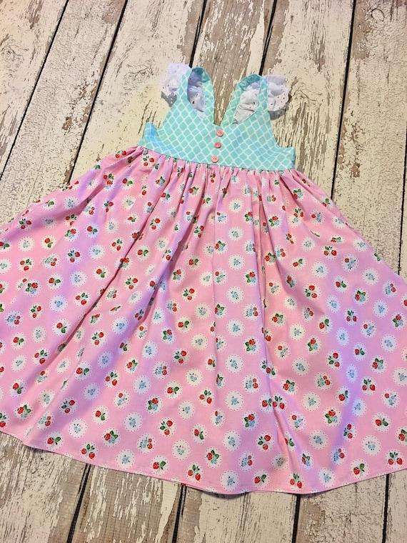 Vestido de fresa las niñas fresa vestido del bebé fresa