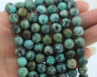 8mm Round Aatural stone beads  One Full Strand, Aatural Turquoise  beads,Gemstone Beads----about 45 Pieces---15-16 inches--NF103