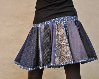 patchwork skirt jeanslook