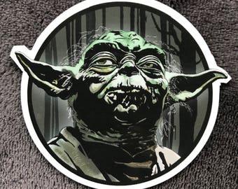 STAR WARS Yoda Waterproof Sticker
