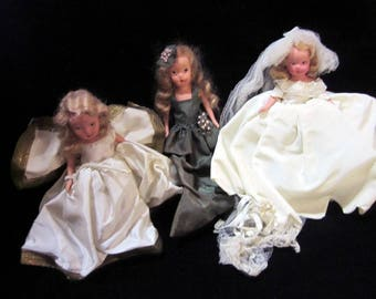 Vintage 3 Kerr & Hinz Dolls in as is condition. Also known as K and H