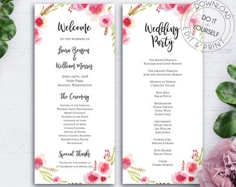 Bohemian Wedding Place Cards Wedding Reception Name Sign