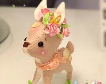 Kawaii Felt Fawn Deer Doll