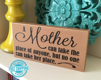 Mother Sign- Mother Gift, Grandma Gift, Mom Gift, Gift for Mom, Mother's Day Gift, Mother's Day Wood Sign, Mother's Day Sign, Gift for her