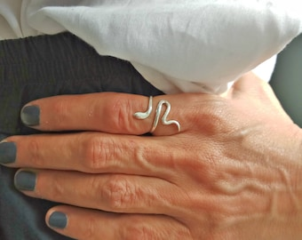 Silver Snake Ring, Sterling Silver Ring, Wholesale Snake Ring, Fashion Jewelry Ring, Wholesale Jewelry Supplies, Adjustable Jewelry Ring