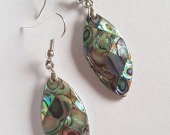 Earrings with beautiful mussel stones