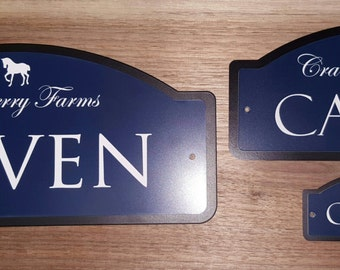 Horse Stall Name Plate   The Standard XL