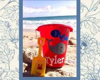 Personalized Beach Bucket  Sand Bucket  Fun in The Sun  Beach Pail  Beach bucket w/shovel  Bucket of Fun Birthday Bucket Vacation Bible Scho