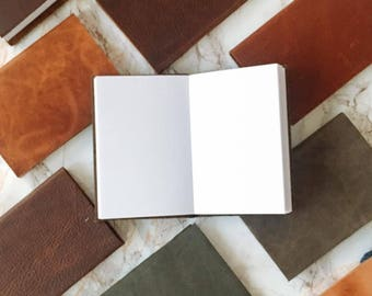 Mini Sketchbooks & Pocket Journals - Handmade with Natural Leather - by ClaireMagnolia