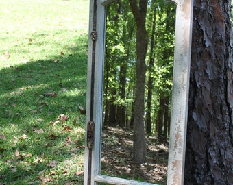 Architectural Salvage Antique Window, Antique Window Mirror, 1800's Salvaged Window