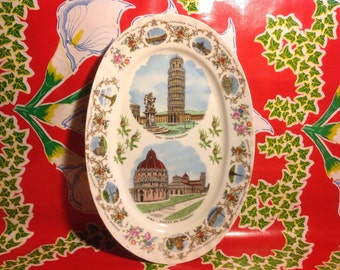 Vintage Pisa, Italy souvenir platter- Kronester, Bavaria
