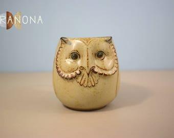 Vintage 3D Owl Stoneware Mug