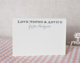 Love Notes & Advice Cards | Wish Cards | Guest Book | Wedding | Engagement | Advice Shower | L04