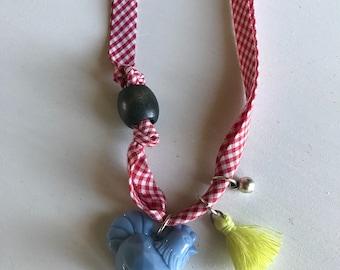 Girls chicken necklace