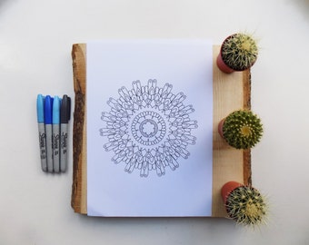 Downloadable.PDF. mandala. colouring page .for adults or older children.Coloring pages for adult's.eastern sapphire.