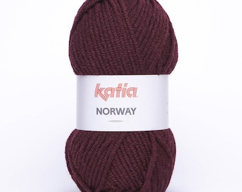 wholesale wire Norway from Katia Burgundy color No. 19