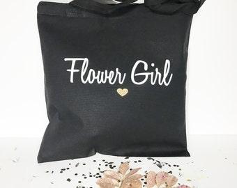 Flower Girl Tote Bag, Flower Girl Tote, Flower Girl Gift, Tote Bags, Flower Girl Bag