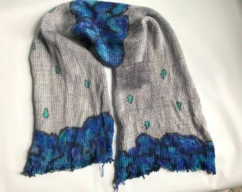 Handgefärbtes Garn, Indie gefärbte Garn, handgefärbte Wolle regnet IN VANCOUVER gefärbt, um die Bestellung von Hand bemalt Sock Blank Merino / Nylon Doppel gestrandet