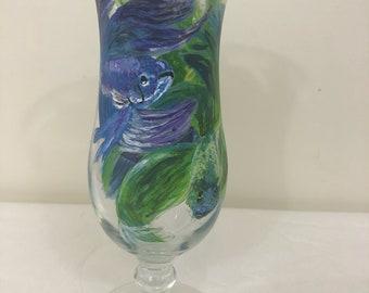 Beta Fish Hurricane Glass