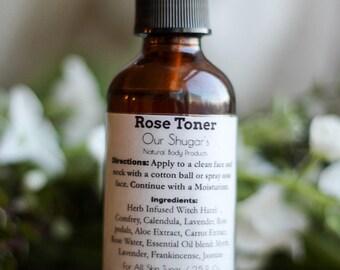 Natural Rose Facial Toner/ skin care