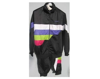 New vintage ADIDAS tracksuit, black Adidas track suit, Adidas set, jacket pants hip-hop suit size M L Medium D6 Large D7 NWT