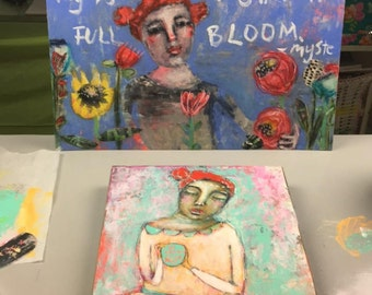 Wonder Paint, Episode 2 with mixed media folk artist Mystele