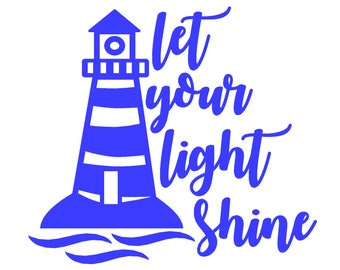 Lighthouse Decal - Let Your Light Shine Lighthouse Decal
