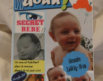 Magazine Style birth announcements