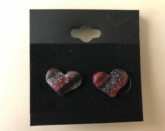 Dark Sparkle Hearts