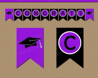 Graduation Banner Printable - High School Graduation Decoration 2018 - EDITABLE Graduation Party Printables - Graduation Photo Prop G1