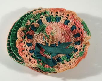 Vintage Handmade Crochet Pincushion