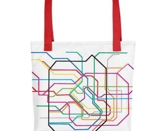 Tokyo Subway Lines Tote Bag