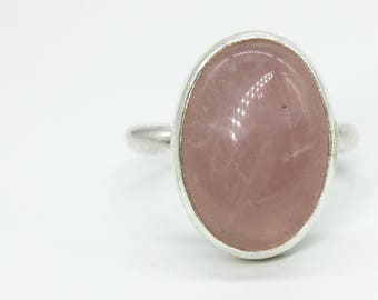Sample Bezeled Rose Quartz Ring