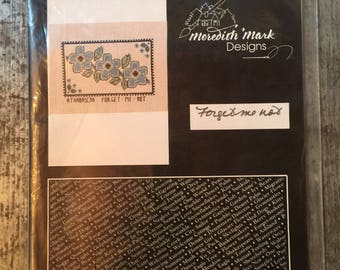 New in Package Meredith Mark Counted Cross Stitch Kit Forget Me Not Flowers