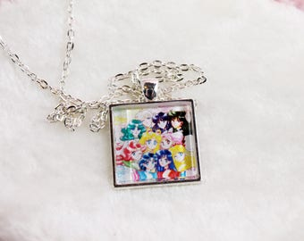 Sailor Moon Glass Cameo Necklace