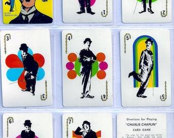 CHARLIE CHAPLIN Card Game (Edu-Cards) 1972