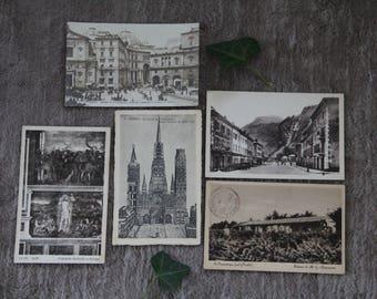 Antique/vintage card / set of 5