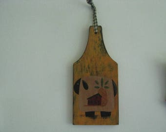 sheep breadboard painting, saltbox house breadboard, pineapple breadboard, primitive, handpainted,
