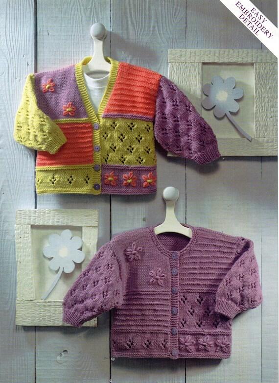 Baby Cardigans Knitting Pattern Baby Girls Childrens Jackets