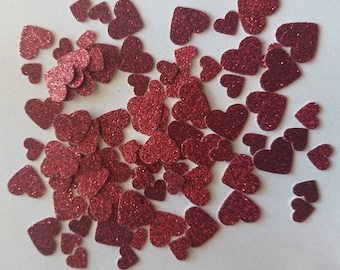 Scarlet Red-Glitter-Red-Doublesided-Confetti-Love-Wedding-Engagement-Bridal Shower-Valentines Day-Table Scatter-Party Decor-Free Shipping