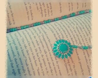 flower beaded book mrker