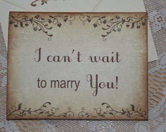 Bride to Groom Card, I can't wait to marry you, Groom Card from Bride