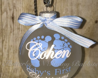 Babys first Christmas ornament first christmas new baby baby ornament personalized ornament monogrammed ornament
