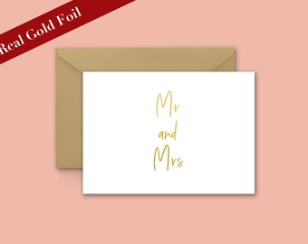 Mr & Mrs Gold Foil Card
