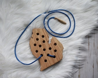 Michigan Wooden Lacing Toy