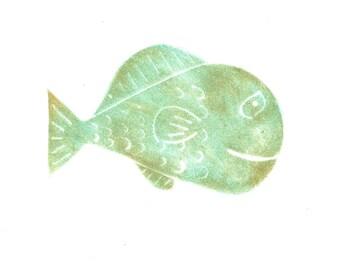 Original Art | Fish | Monoprint