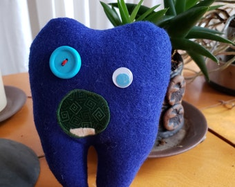 Tooth Fairy Pillow with pocket, Custom, Monster pillow, Lost tooth