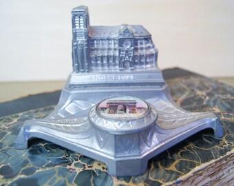 Vintage Notre Dame Souvenir Inkwell - Art Deco