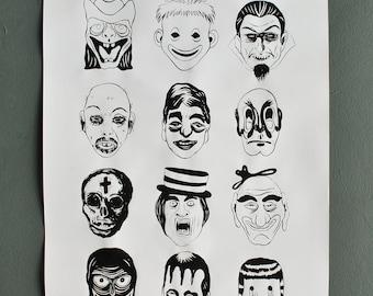 Monster Poster (signed) Limited Edition, Monsters, Original Art Screenprint